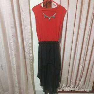 Red Black Mini Dress