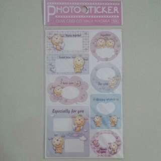 Brand New Korea Angel Piglet Piggy Pig Dialogue Photo Frame Stickers