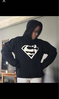Black Superman Glow in the dark hoodie