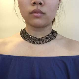 Rustic Black and Gold Choker