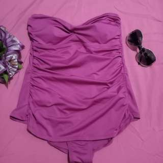 One Piece Purple Swimwear