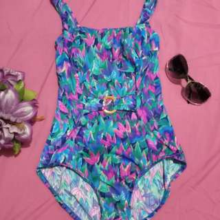 One Piece Colorful Swimsuit