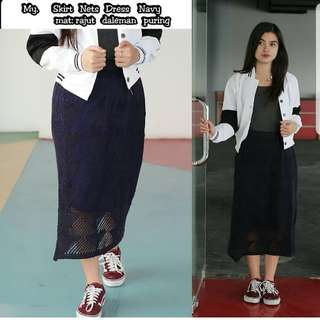 Skirt net dress