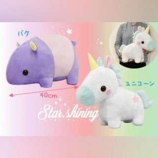 日版Amuse獨角獸 獨角馬公仔☆mega super cute unicorn plushy toy