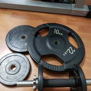 Workout bench/Weights/Dumbell/Barbell