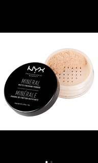 Nyx mineral finishing powder light/medium