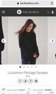 Lululemon Passage Sweater