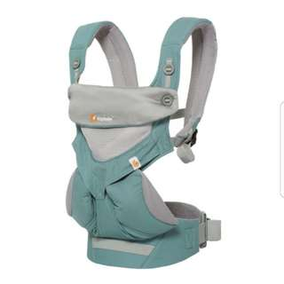 Direct Factory Ergobaby 4 Position Carrier - 360 Cool Mesh Air Performance Baby Wearing - Icy Mint