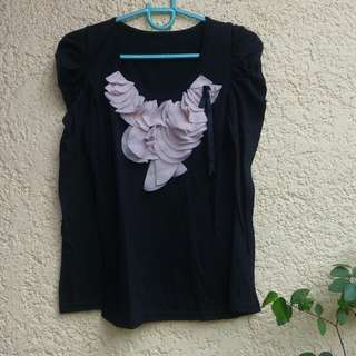 Black Longsleees Top
