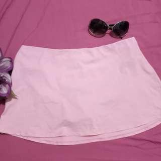 Baby Pink Swim Skirt with bikini