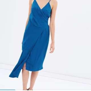 Keepsake blue wrap style dress size S (suit 8-small10)