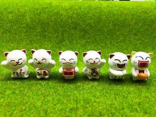 Minature display figurines (terrarium,diy...) fortune cat