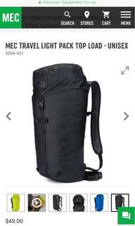 MEC Travel Light Pack Top Load