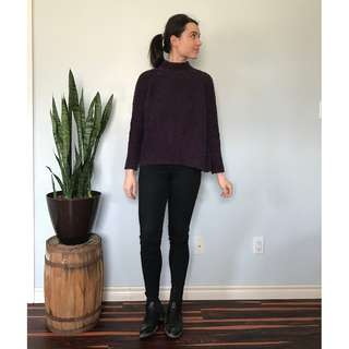 Loft deep purple sweater- Size Small