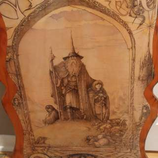 Jimmy Cauty Middle Earth Painting on Wood
