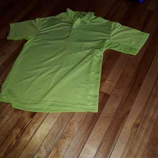 Nike Golf Mens polo bright green large short sleeve sphere dry textured