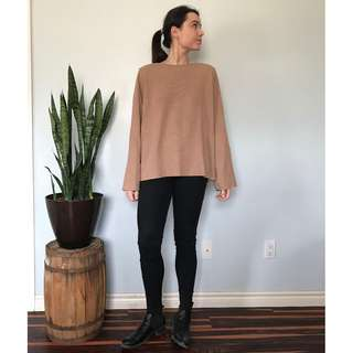 Zara tan sweater- Size Large