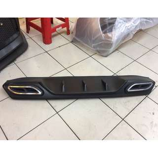 Civic FC rear diffuser with dummy exhaust