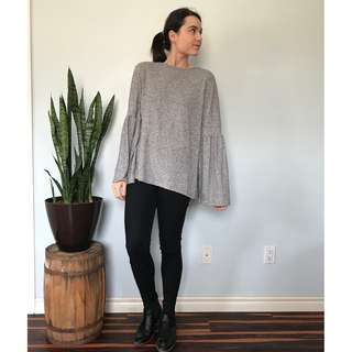 Zara grey sweater- Size Large