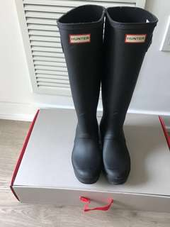 Black Hunter Boots Size 8 Brand New