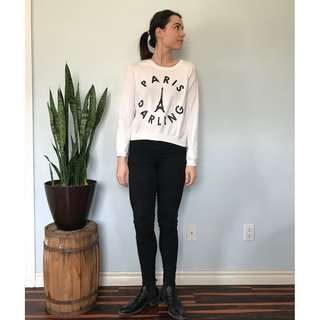"H&M ""Paris"" sweater- Size Medium"