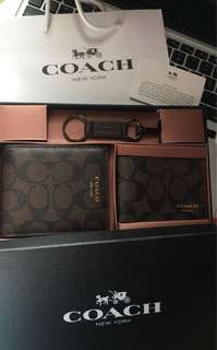 Coach 2 way wallet with key holder