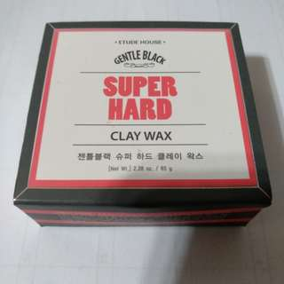 Gentle Black Super Hard Clay Wax