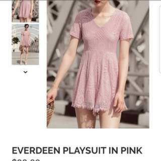 BN Fashmob Everdeen Playsuit Light Pink Size S