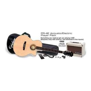 Epiphone PR-4E Acoustic Guitar Player Pack, UK 240V
