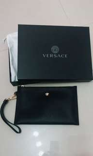 Authentic Versace Medusa Wrist Pouch / Clutch Bag
