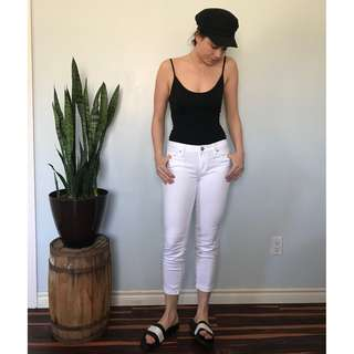 Loft white denim pants- Size 4