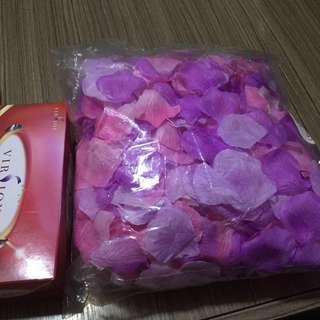 粉紅色 紫色 花瓣 petal wedding