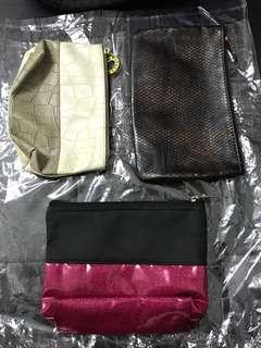 Makeup bag/pouch x3 @$40