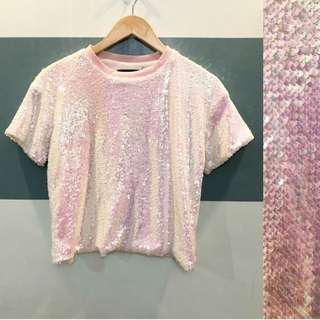 Mermaid Sequined boxy blouse