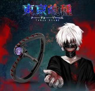 Tokyo Ghoul【Kaneki Ken】Pure Silver Black-Plated Ring