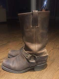FRYE belted harness boots