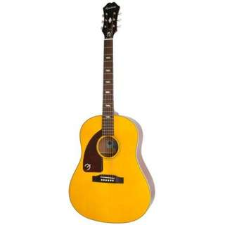 Epiphone Limited Ed Inspired by 1964 Texan Left-Handed Acoustic Guitar, Antique Natural