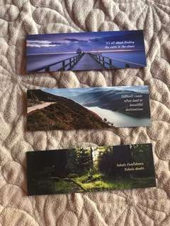 Motivational Scenery Bookmarks