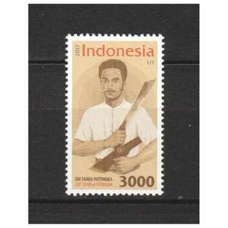 INDONESIA 2017 200 YEARS PATTIMURA COMP. SET OF 1 STAMP IN MINT MNH UNUSED CONDITION