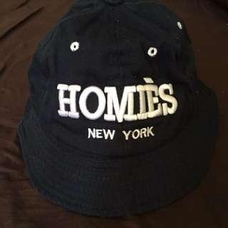 Homies美式休閒 深藍 漁夫帽 鴨舌帽