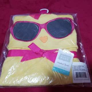 Cool chick hooded towel