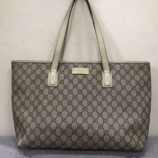 Authentic Gucci monogram top zip tote bag