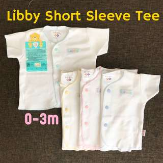 0-3m Libby button tee shorts pants infant clothes