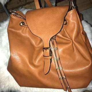 Leather Bag 2-way Sling/Backpack