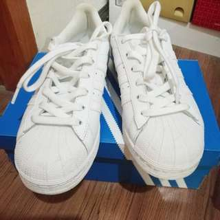 Authentic Adidas White Superstar size 8