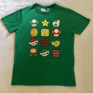 Nintendo Mens Super Mario Top T-shirt Size M EC