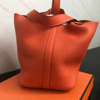 Brand new Hermes Picotin PM Feu Orange