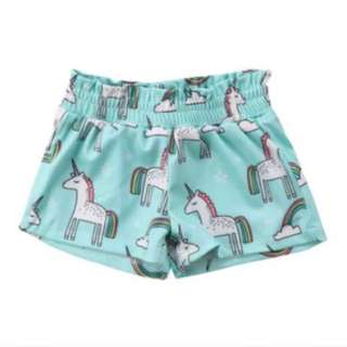 Unicorn shorts for babies