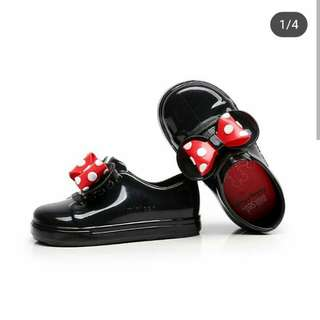 Minnie jelly shoes black