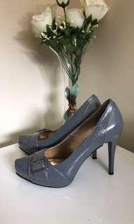 BETTS Ladies Shoes Size 8 Grey Patent Leather Court Shoes Stiletto Pumps EC